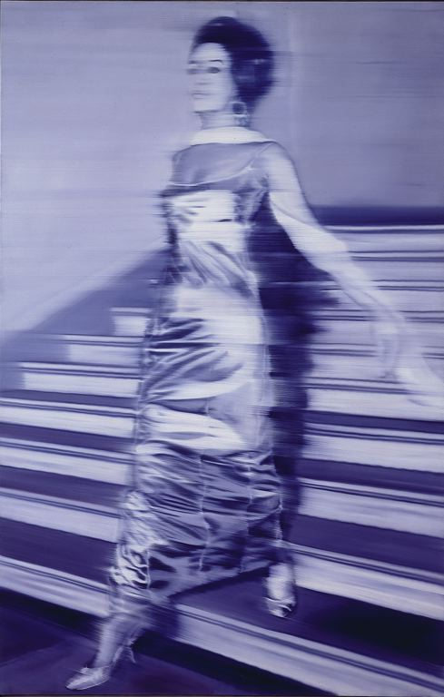 an analysis of gerhard richters painting woman descending the stair case Gerhard richter forty years of painting  or a blurred copy of a woman dressed in an evening gown descending a staircase (woman descending the staircase, 1965 .