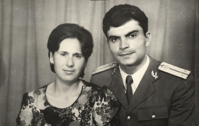Eu si sotia mea Doina , in 1975 , cind ne-am casatorit....
