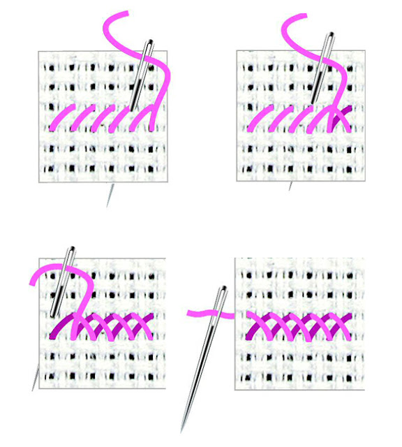 Tutorial de punto de cruz para principiantes 04