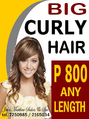 BIG CURLY HAIR at P800 any length