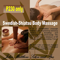 SWEDISH-SHIATSU BODY MASSAGE at P230