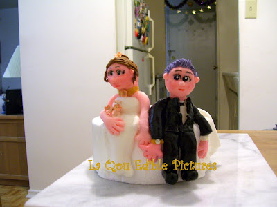 Edible Wedding Cake Toppers on La Qou Edible  Wedding Topper Sugar Paste  Fondant