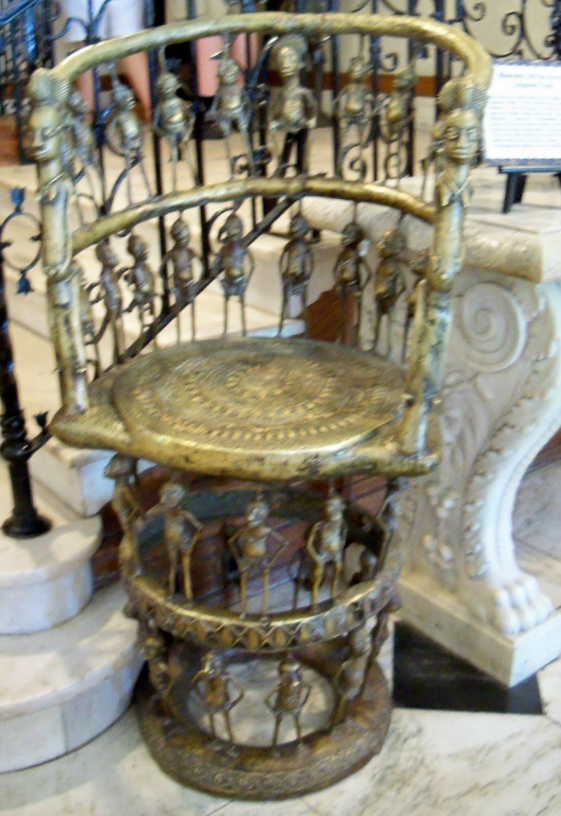 Mbamelke African Bronze Judgment Chair