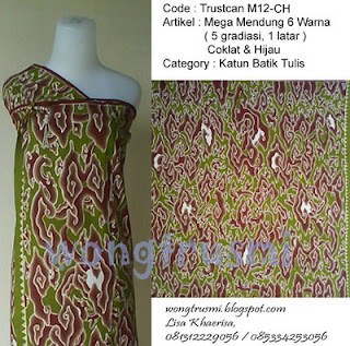 batik mega mendung tulis
