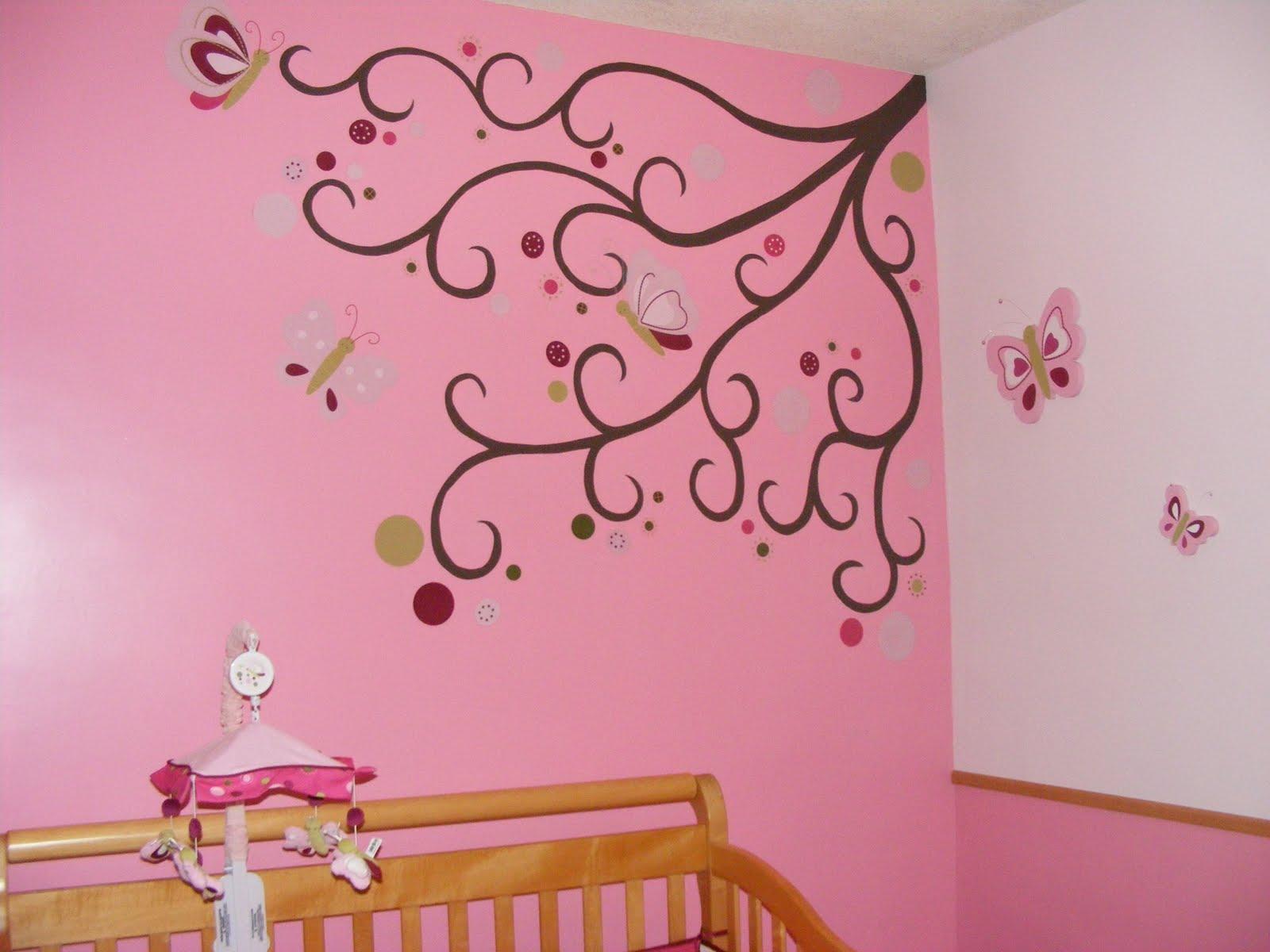 Murales infantiles 03 25 10 for Mural de flores y mariposas
