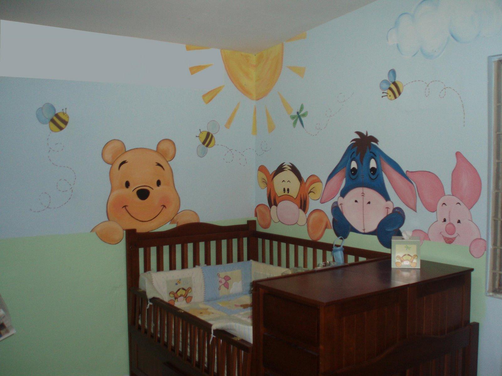 Murales infantiles mirando al bebe recamara phoo y sua amigos for Recamaras para bebes