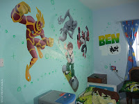בן טניסון והחייזרים - עיצוב חדר ילדים