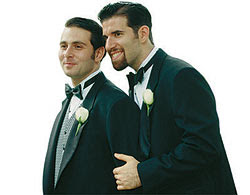 Two guys dressed for marriage