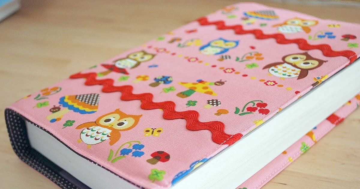 Fabric Book Cover No Sew ~ All awesome links sew a fabric book cover