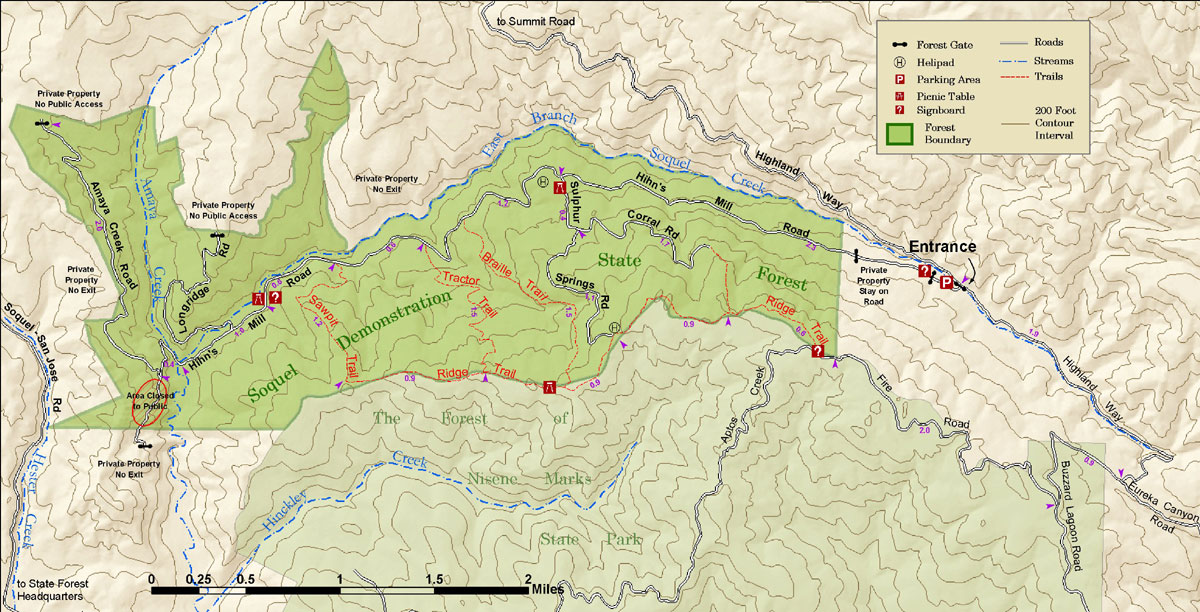 Mountain Bikers of Santa Cruz Newer Soquel Demo State Forest Map