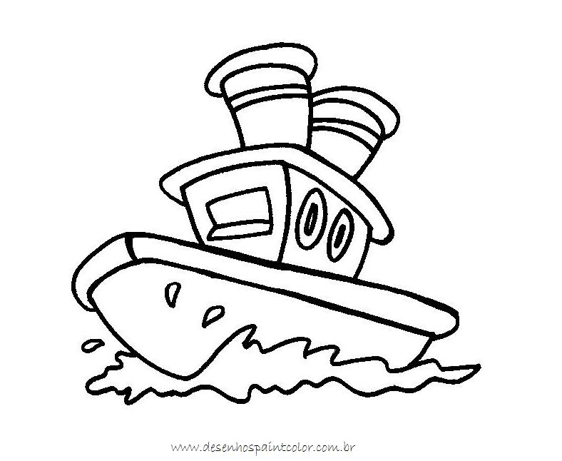 Desenho de barco para imprimir e colorir no paint - Paint para pintar ...
