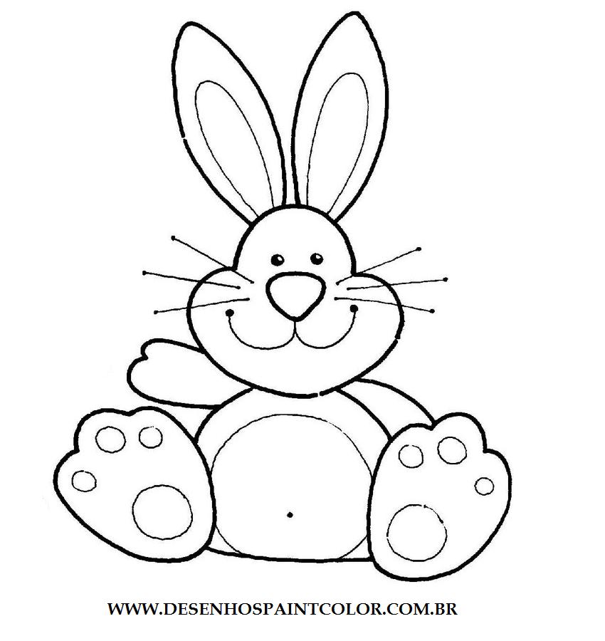 colorindo com a dry desenho de coelho para imprimir e colorir