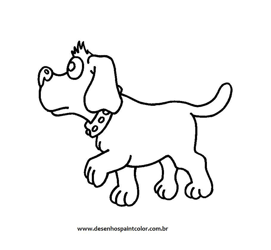 colorindo com a dry desenho de cachorro fiel para imprimir e
