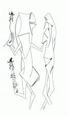 Isabelle DALBE - POÈME 'LA NEIGE' avec DESSIN de Georges-Henri MORIN   ▼ ▼