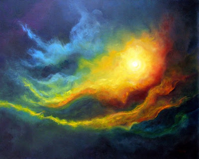 Best abstract oil paintings, Cosmic Light by Marina Petro