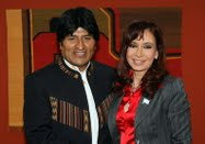 Evo  Morales y cris