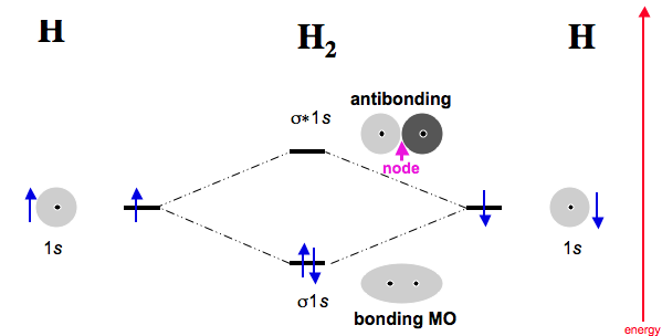 Therefore the bond order = 1/2(2-0) = 1 H2 Molecular Orbital Diagram