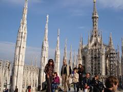 En la Cúspide del Duomo de Milano