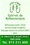 Gabinet de Reflexoteràpia