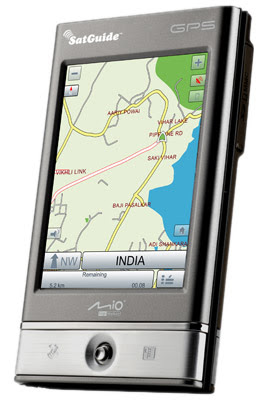 PDA with GPS navigation with new SatNav