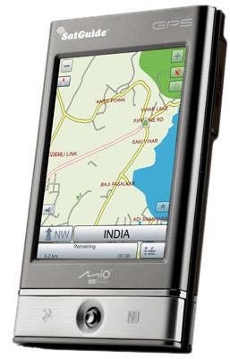 PDA with GPS navigation with new SatNav