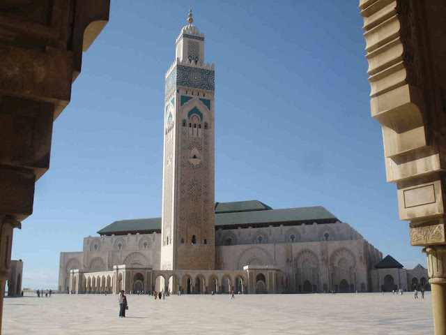 On aime le maroc pour mosqu e hassan ii casablanca for Mosquee hassan 2 architecture