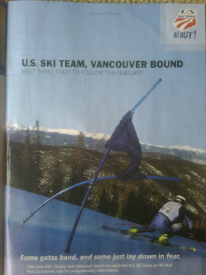 ... in a magazine ad for the 2010 Winter Olympics-bound U.S. Ski Team.