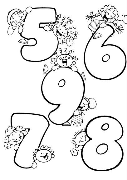 Moldes de números de 0 a 9 para imprimir - Imagui