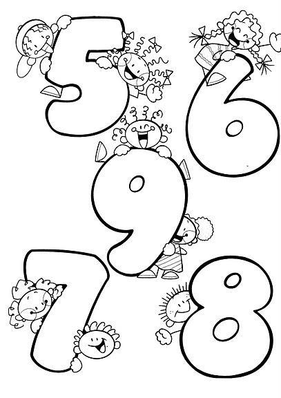 Moldes de numeros para imprimir - Imagui
