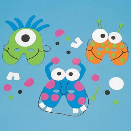 Viseiras e m scaras de monstros pra gente mi da for Mask craft for kids
