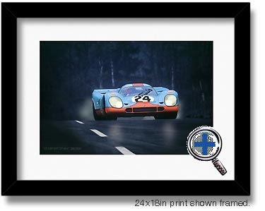 porsche 917 auto car artwork and photo poster