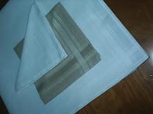 Toalha de Chá de algodão ou linho 0,80/0,80
