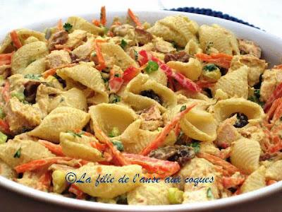 la fille de l anse aux coques salade de p 194 tes et poulet au curry