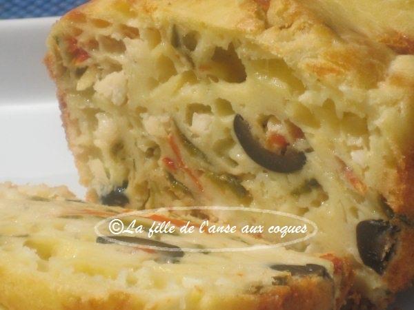 Cake Aux Poivrons Feta Et Olives Noires
