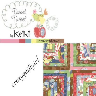 Moda TWEET TWEET Fabric by Keiki