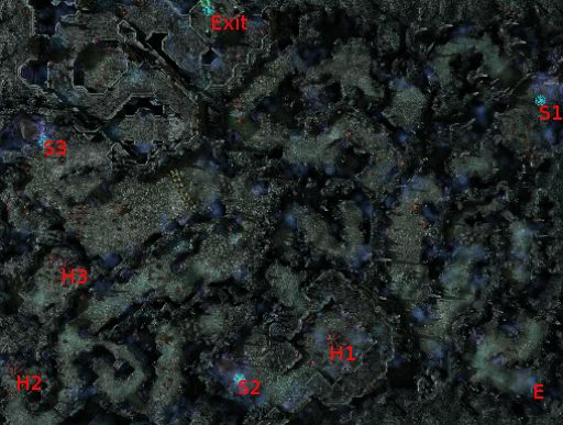 H1~H3: Location of Zerg Hatcheries (Bonus Objective)