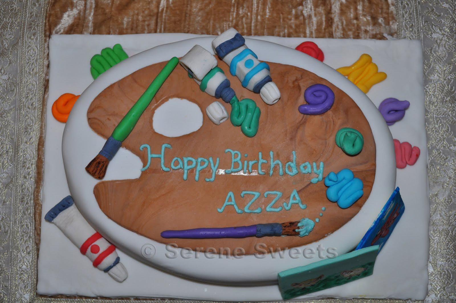 Serene Sweets: Artist Palette Birthday Cake