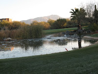 waterhole at the golf course