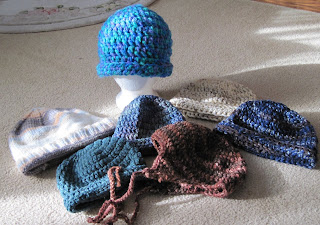 knitted and crocheted hats