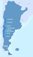 ski map of Argentina