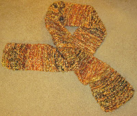double knitted scarf