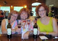 girls tasting wine