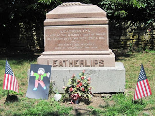 Chief Leatherlips Gravestone