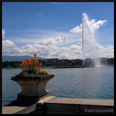 Genève, le Léman et le jet d'eau