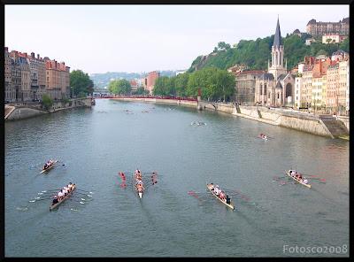 Avirons sur la Saône, à Lyon