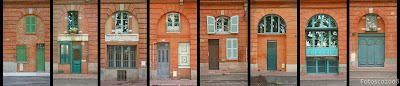 Façades du quai Lucien Lombard, Toulouse