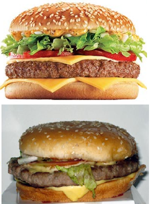 propaganda enganosa do big tasty do Mc Donald