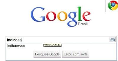 indicoesse no google