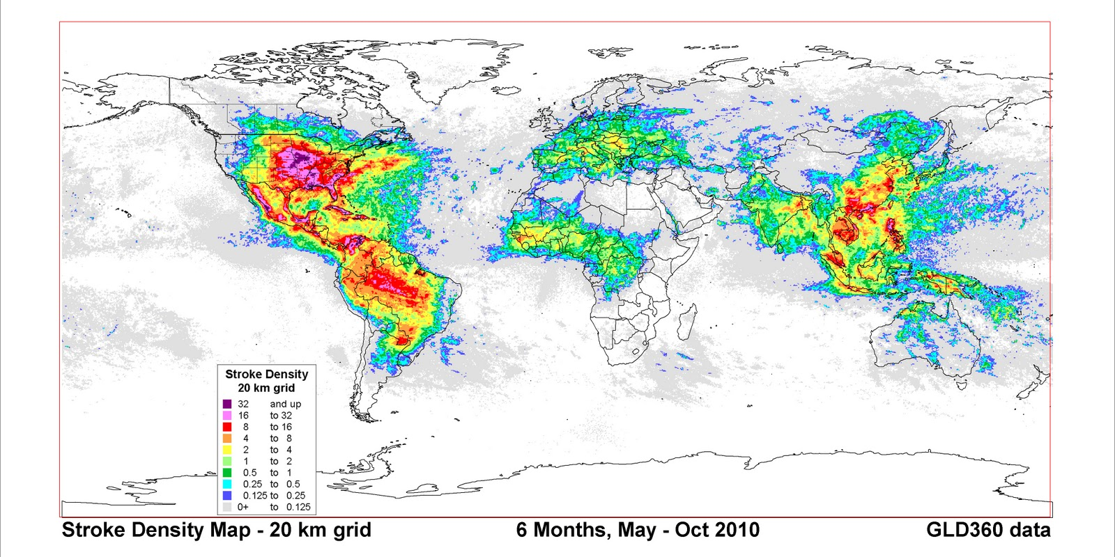 Mike smith enterprises blog six months of world lightning from our friends at vaisala here is a map of world lightning strikes from march 1 to october 31 2010 click to enlarge gumiabroncs Image collections
