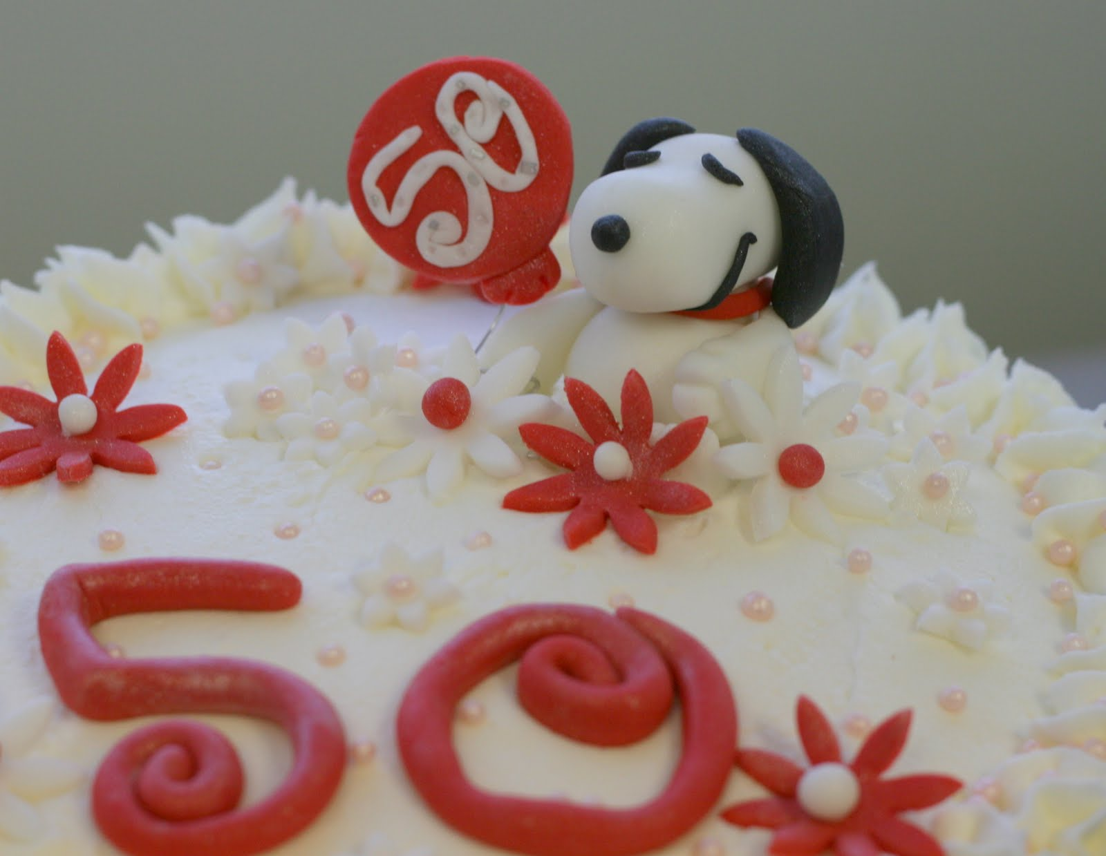 Sarahs Stylish Cakes Snoopy 50th Birthday Cake